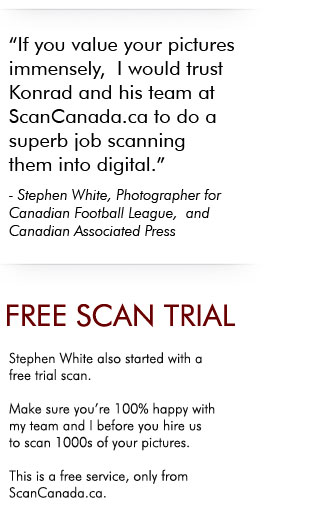 Start with a free trial with 30 slide negative photo scans.